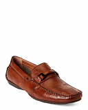 Tan Garcia Leather Loafers