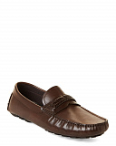 Brown Carson Leather Driving Loafers