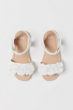 Sandals with Flowers - white