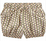 Geo Print Pull-On Bubble Shorts