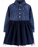 Tulle Denim Dress