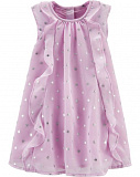 Polka Dot Ruffle Front Dress4
