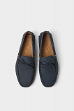 BLUE LEATHER DRIVING MOCCASINS - blue