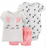 3-Piece Bunny Little Short Set